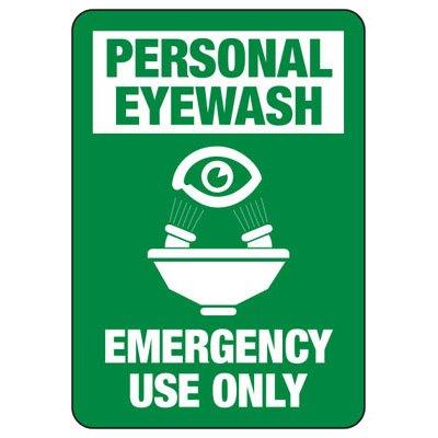 Eyewash Fountain Emergency Use Only Sign