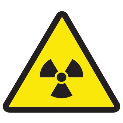 ISO Warning Symbol Labels - Radioactive Material Hazard