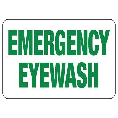Glow Emergency Eyewash Sign