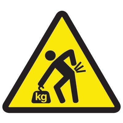 ISO Warning Symbol Labels - Lifting Hazard