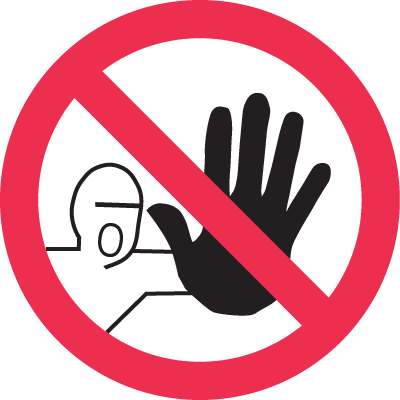 ISO Prohibition Labels - No Entry