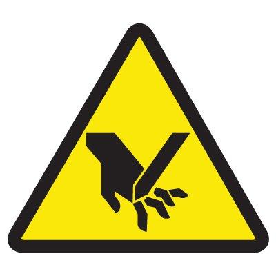 ISO Warning Symbol Labels - Cut Or Sever Hazard