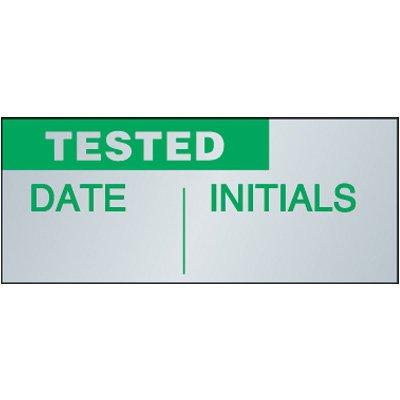Tested Aluminum Status Label