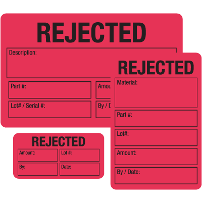 Rejected ISO 9000 Labels