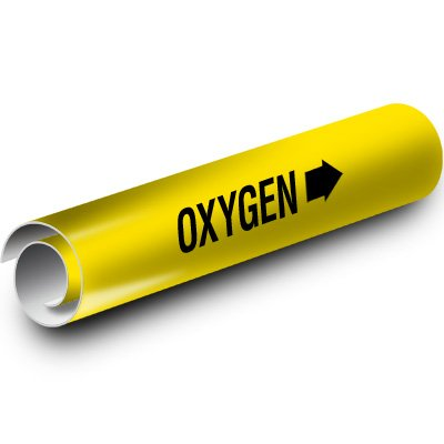 Oxygen Kwik-Koil Pipe Markers