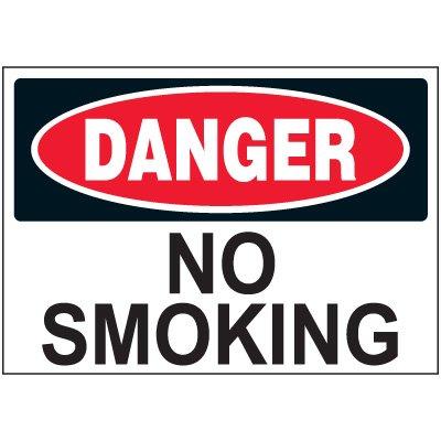 Danger No Smoking Label