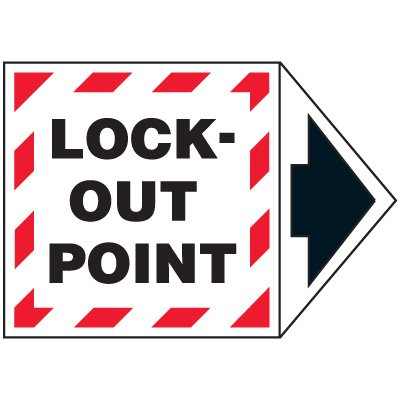 Lock Out Point Machine Labels