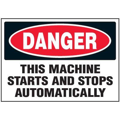 Automatic Machine Danger Labels