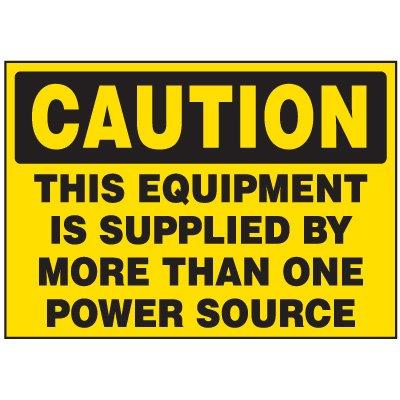 Power Source Machine Caution Labels