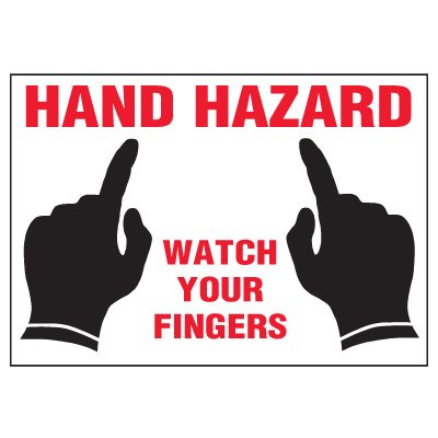 Hand Hazard Warning Markers