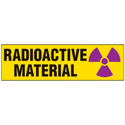Radioactive Material Magnetic Storage Cabinet Label