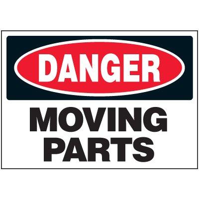 Machine Safety Labels - Danger Moving Parts