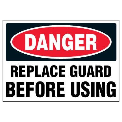 Replace Guard Machine Warning Markers