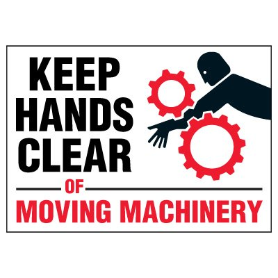 Keep Clear Of Moving Machinery Markers