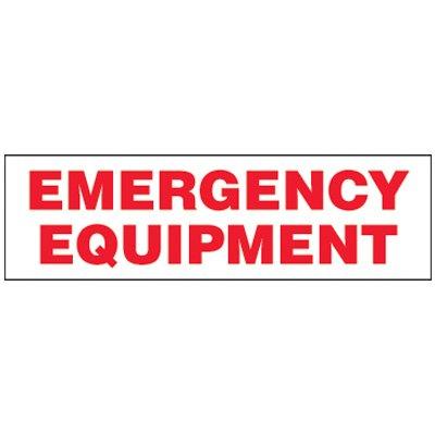 Emergency Equipment Magnetic Storage Cabinet Label