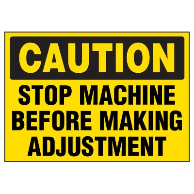 Stop Machine Warning Markers