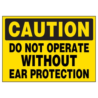 Ear Protection Required Warning Markers