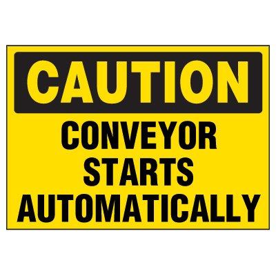 Automatic Conveyor Warning Markers