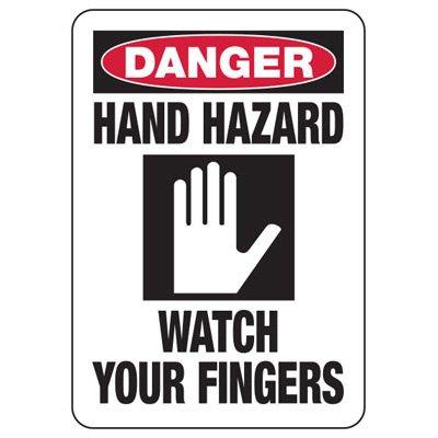 Danger Hand Hazard Sign