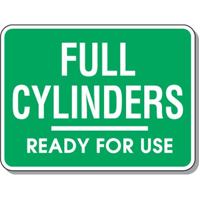 Cylinder Mining Signs - Full Cylinders Ready For Use