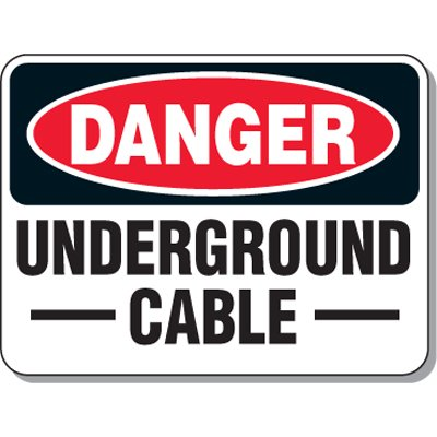 Electrical Safety Signs - Danger Underground Cable