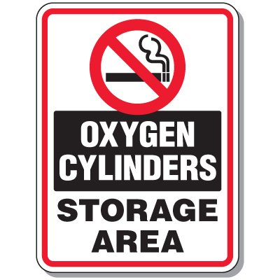 Cylinder Mining Signs - Oxygen Cylinders Storage Area