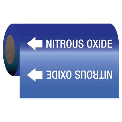 Nitrous Oxide - Medical Gas Self-Adhesive Pipe Markers-On-A-Roll
