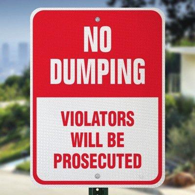 No Dumping Sign