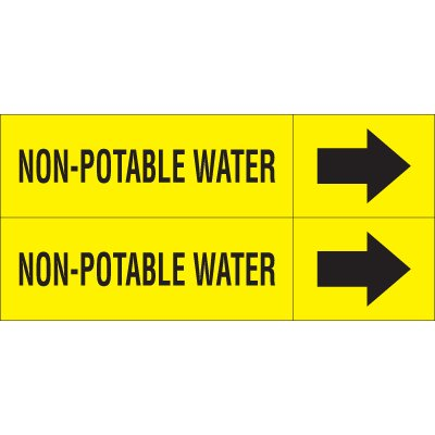 Non-Potable Water - Weather-Code™ Self-Adhesive Outdoor Pipe Markers