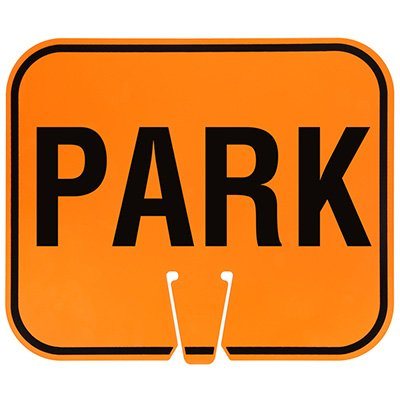 Plastic Traffic Cone Signs- Park