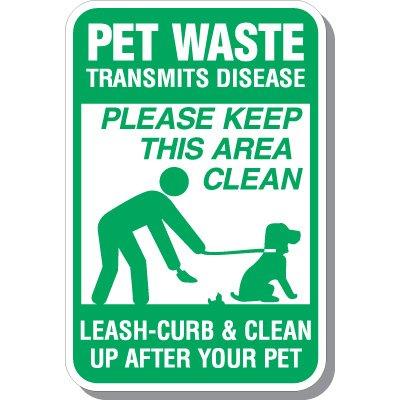 Pet Waste Transmits Disease Sign