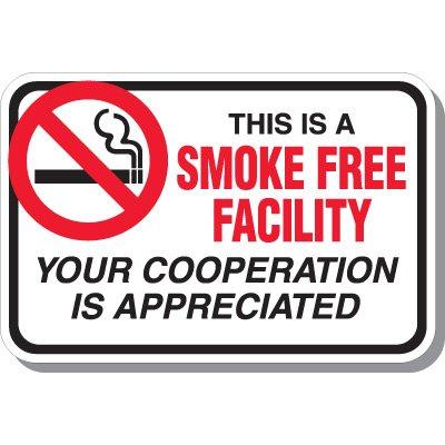 Smoke Free Facility Signs