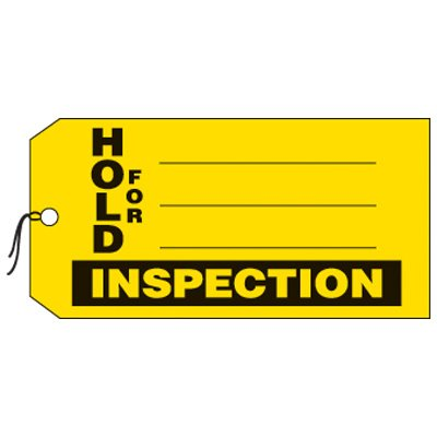 Hold For Inspection Production Status Tags