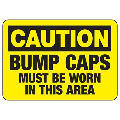 Protective Wear Signs - Caution Bump Cars Must Be Worn In This Area