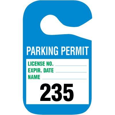 Cardstock Hanging Parking Permits