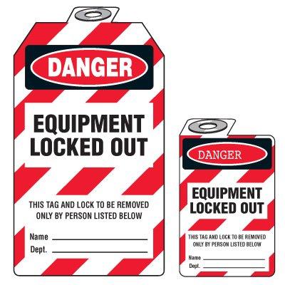 Bilingual Danger Equipment Locked Out - (Padlock Tag)