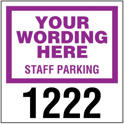 Custom 3 x 3 Window-Mount Parking Permits