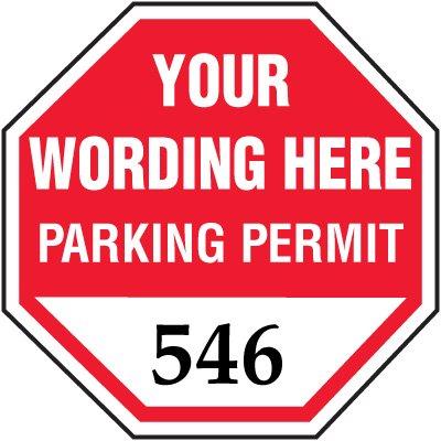 Custom 1-3/4 x 1-3/4 Octagonal Mirror Mount Parking Permits