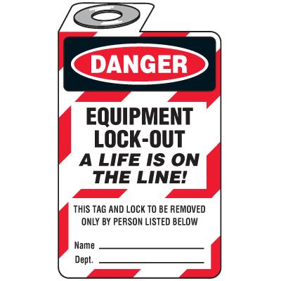 Danger Equipment Lockout (Padlock Tag)