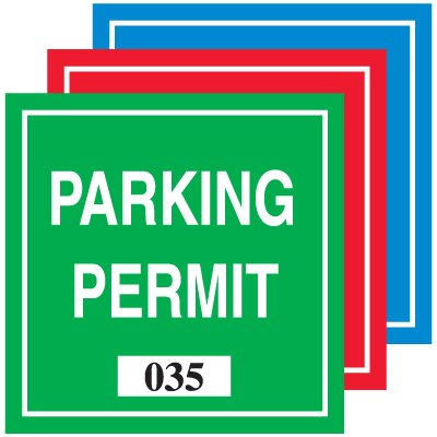 Square Vinyl Parking Permits