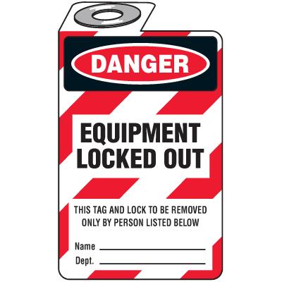 Danger Equipment Locked Out (Padlock Tag)