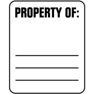 Padlock Labels - Property Of