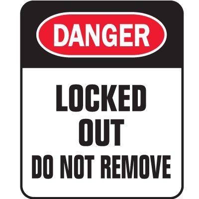 Padlock Labels - Danger Locked Out