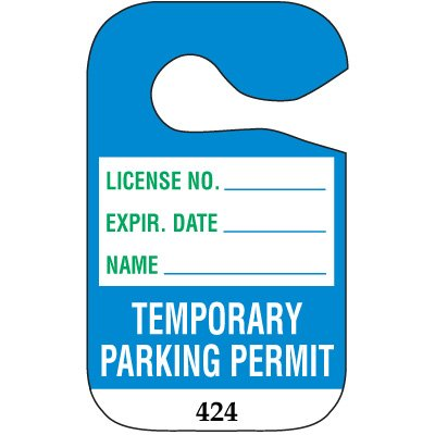 Temporary Numbered Parking Permits