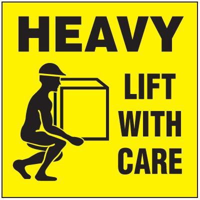 Heavy Package Handling Label