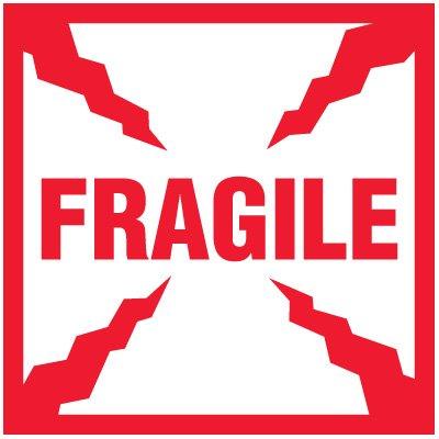 Fragile Package Handling Label