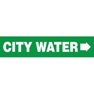 City Water With Arrow Pipe Markers