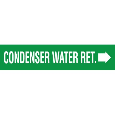 Condenser Water Return Pipe Markers