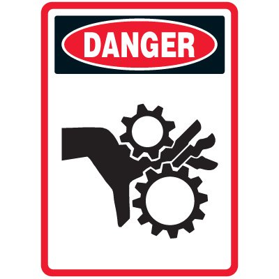 Pictogram Mining Sign - Pinch Point