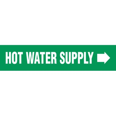 Hot Water Supply Pipe Markers